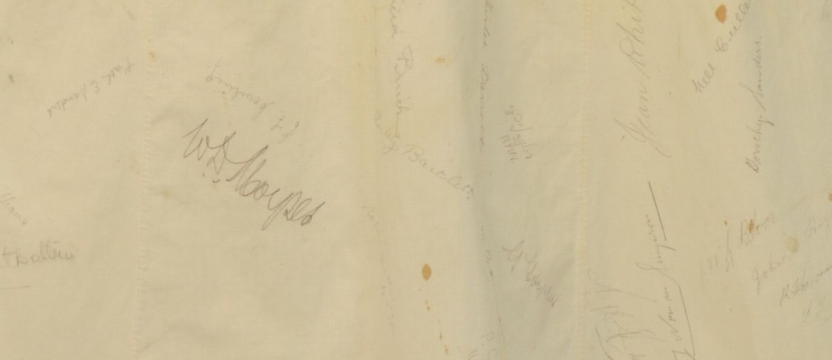 Image: signatures on apron