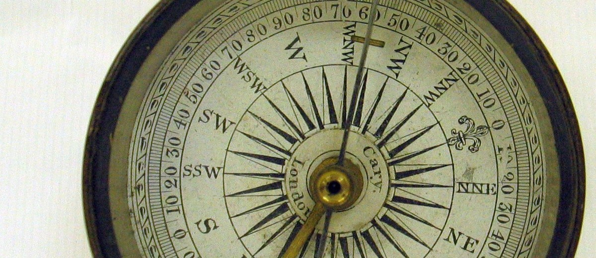 Image: detail of compass face