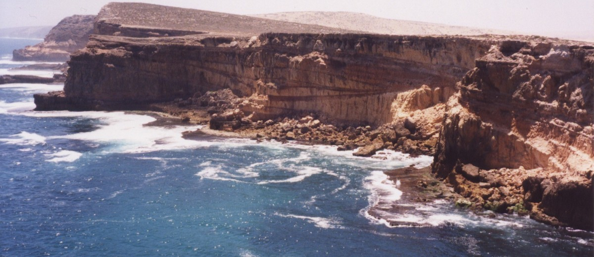 Image: view of cliffs and sea