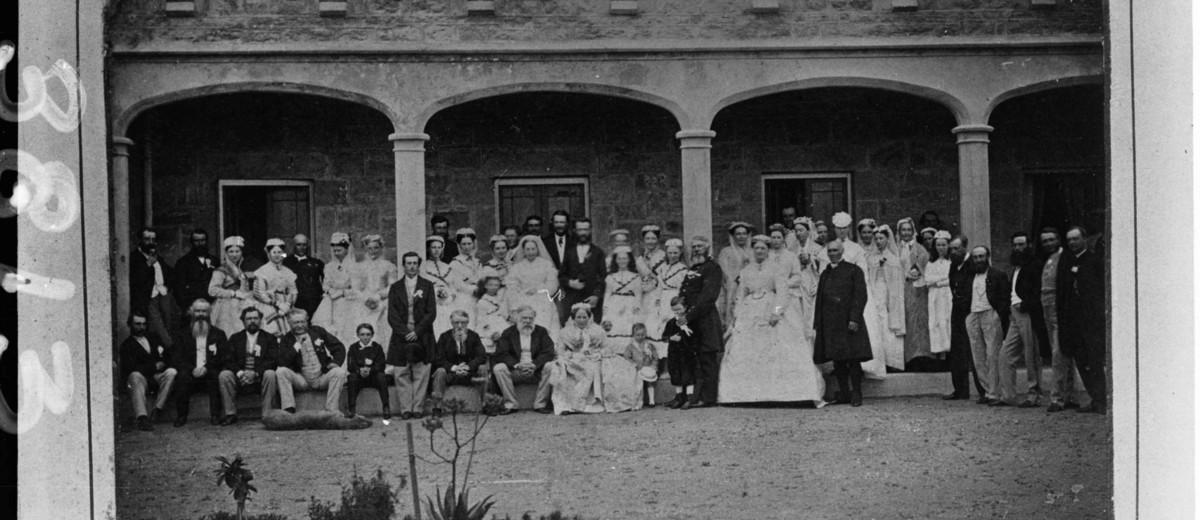 Image: Nineteenth century wedding party