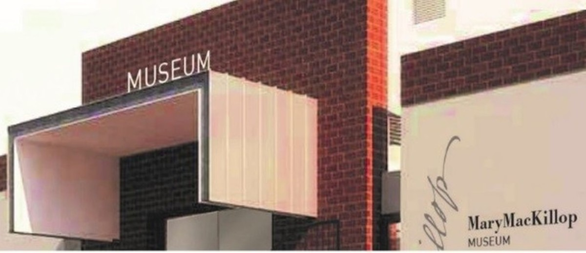Image: Banner image of the top section of a museum building