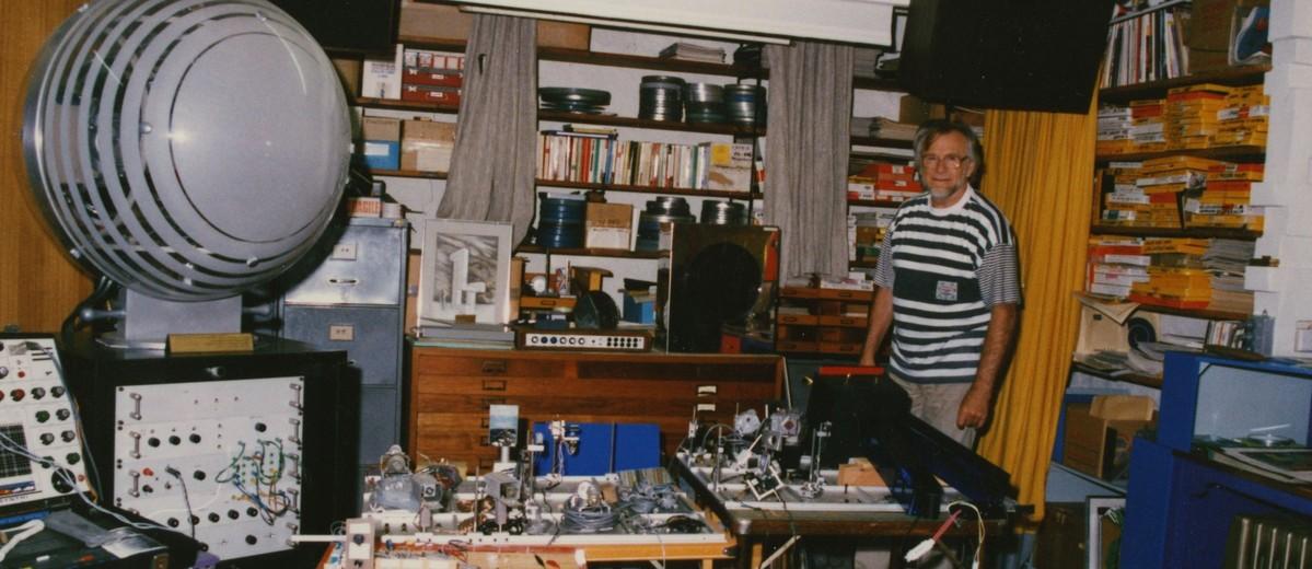 Image: man standing in studio