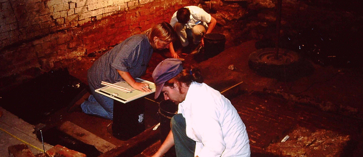 Image: Archaeological excavation, Queen's Theatre