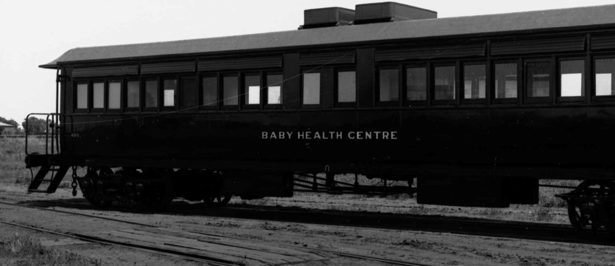 Baby Health Centre railway carriage, 1932