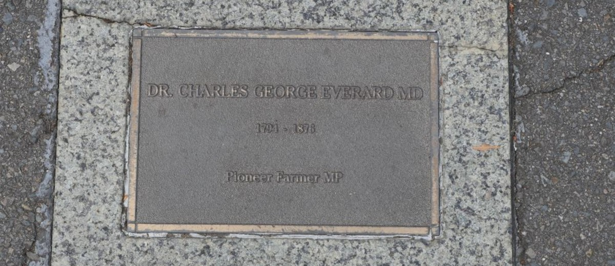 Image: Dr Charles George Everard MD Plaque
