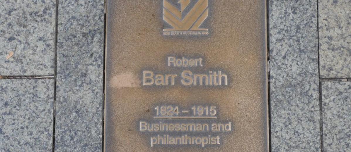 Image: Robert Barr Smith Plaque