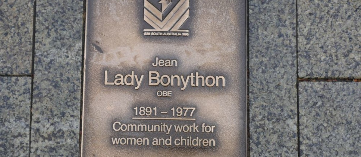 Image: Lady Jean Bonython Plaque