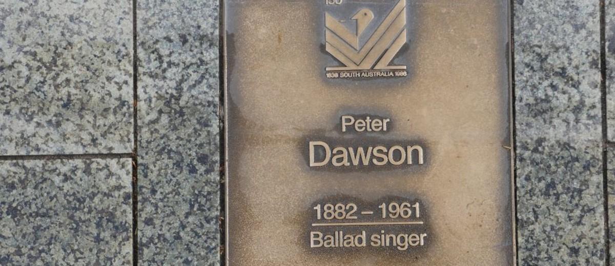 Image: Peter Dawson Plaque