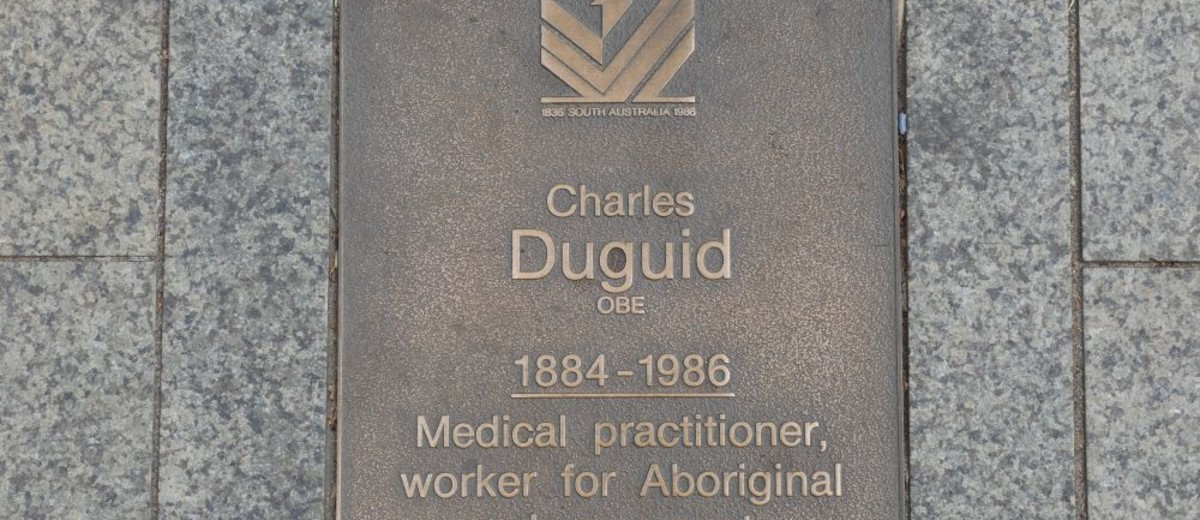 Image: Charles Duguid Plaque