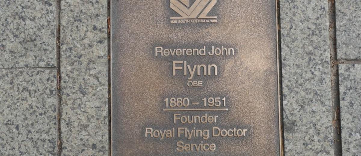 Image: Reverend John Flynn Plaque