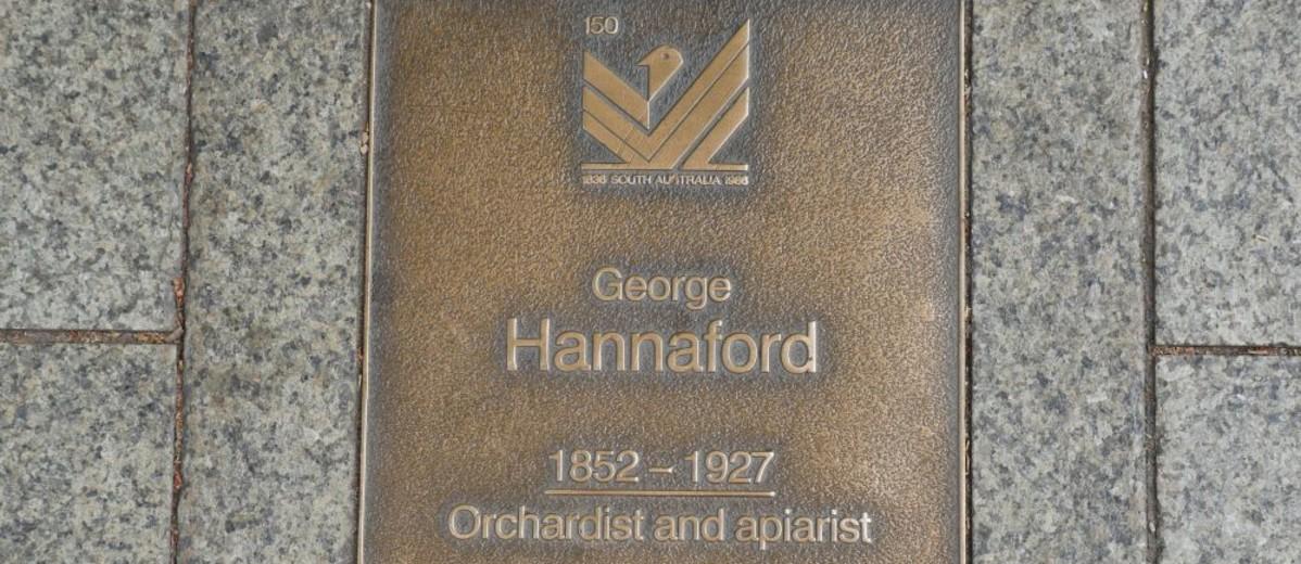 Image: George Hannaford Plaque