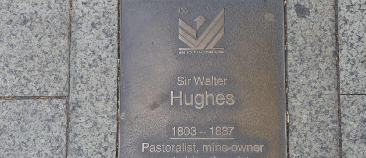 Image: Sir Walter Hughes Plaque