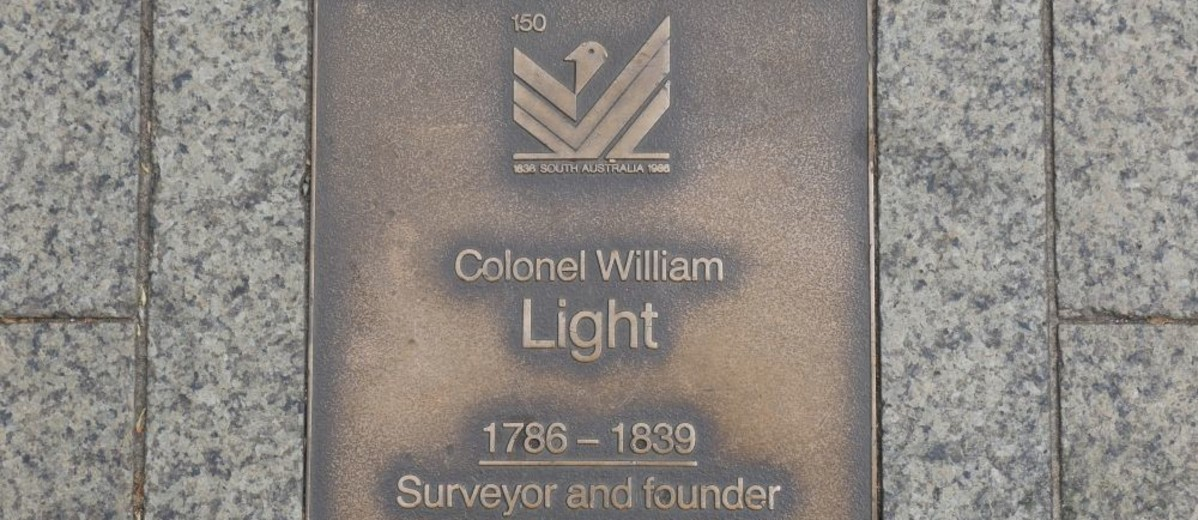 Image: Colonel William Light Plaque