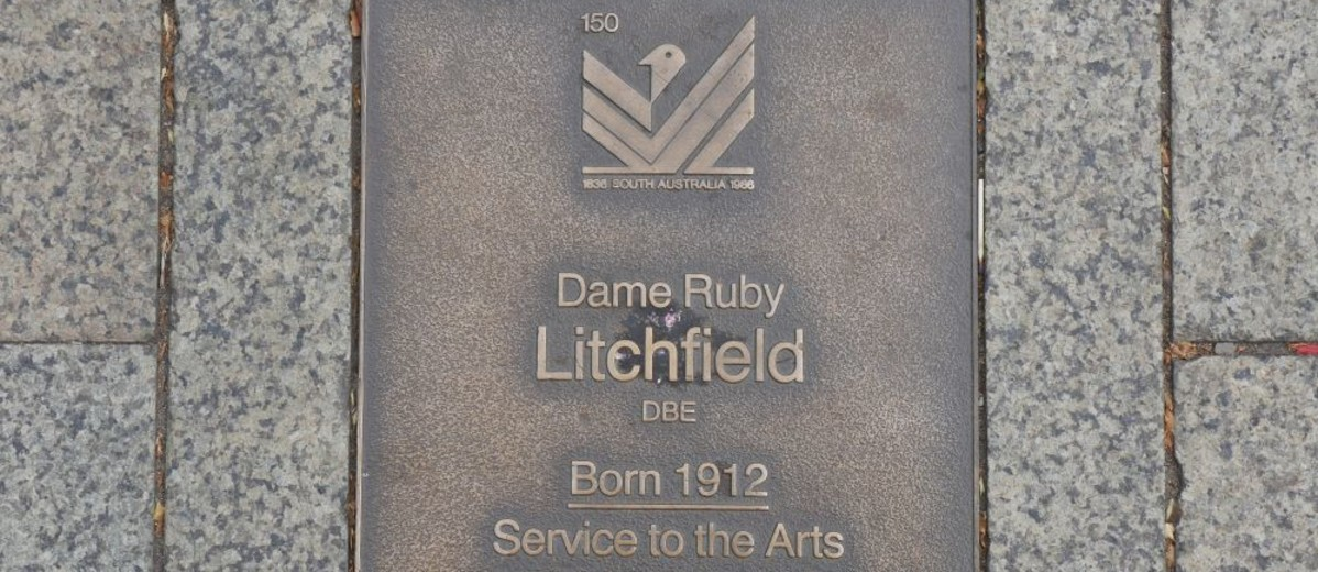Image: Dame Ruby Litchfield Plaque