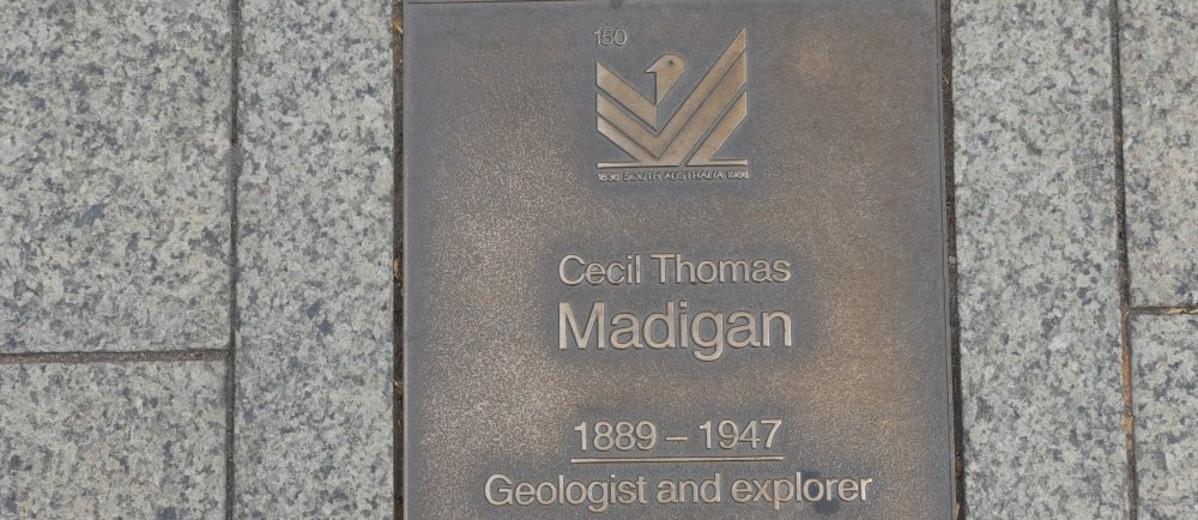 Image: Cecil Thomas Madigan Plaque