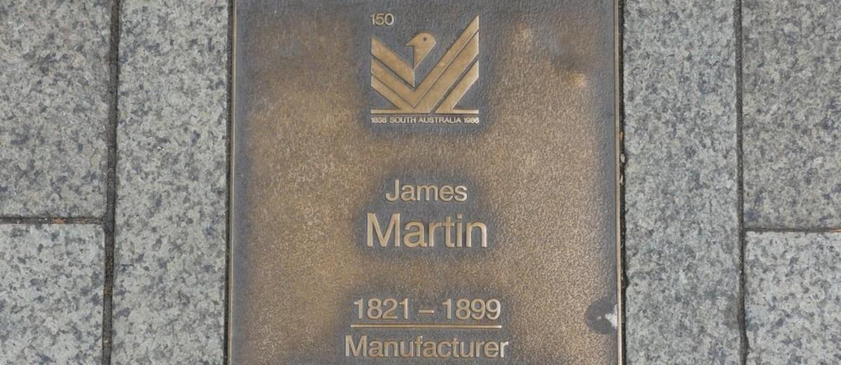 Image: James Martin Plaque