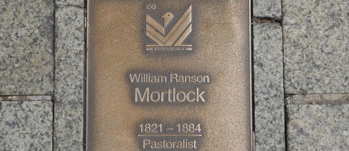 Image: William Ranson Mortlock Plaque