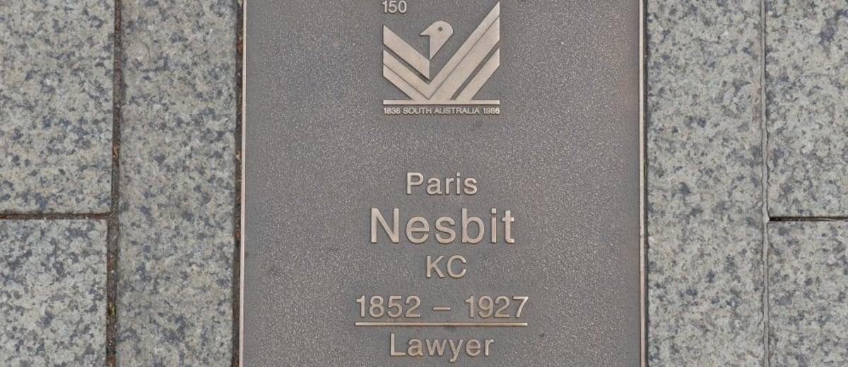 Image: Paris Nesbit Plaque