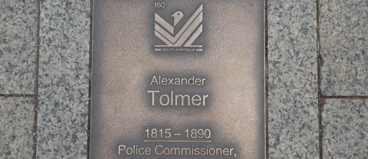 Image: Alexander Tolmer Plaque