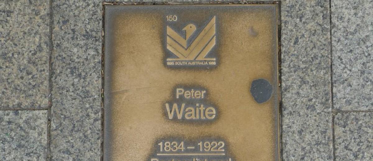 Image: Peter Waite Plaque