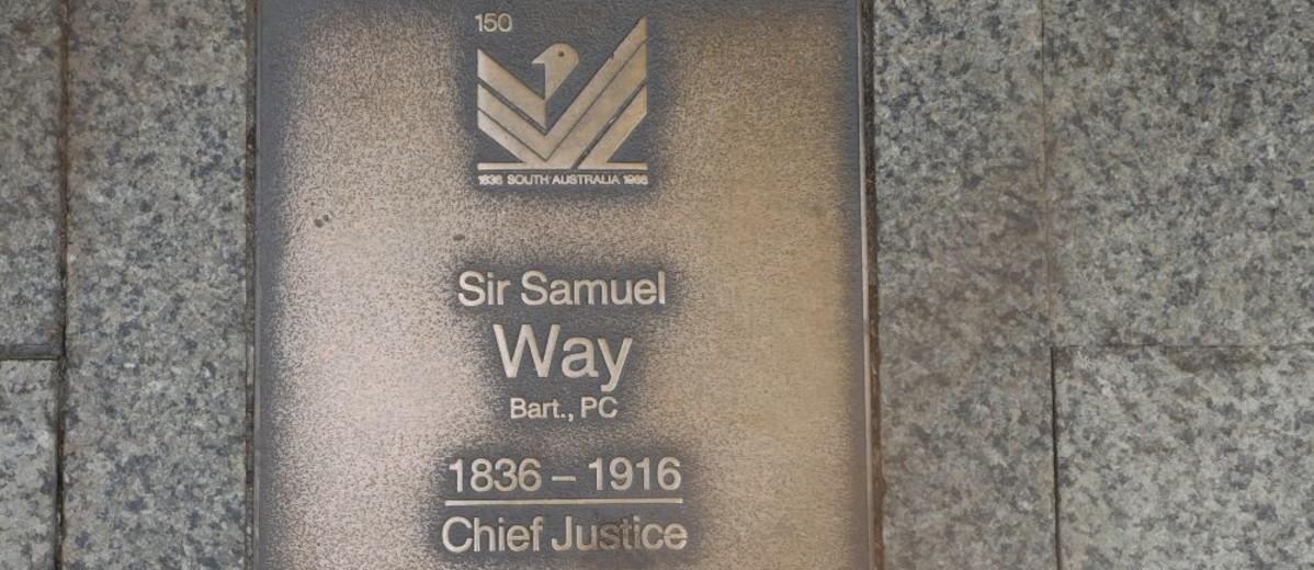 Image: Sir Samuel Way Plaque