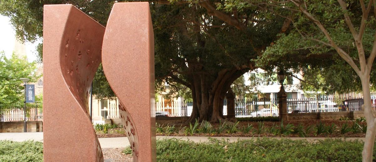Image: Reconciliation Touchstone facing North Terrace