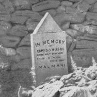 Gravestone of Captain S.G. Hubbe killed in action 1900