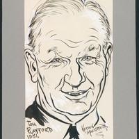 Sketch of Sir Thomas Playford