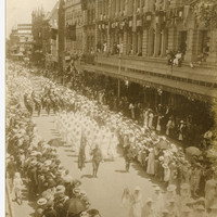 Image: Parade through Adelaide with League of Loyal Women Banner