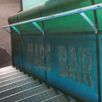 Image: Support rail along metal stairs