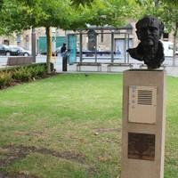 Bronze sculpture of John Dowie by John Woffinden