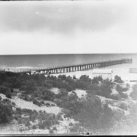 Image: view of sea from sand dunes