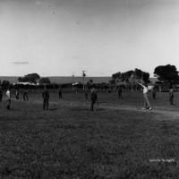 Image: Boys playing cricket