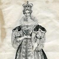 Image: portrait of woman wearing crown