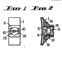Image: A schematic showing multiple views of a patent for an 'Orthodontic Band Clamp' invented by P.R. Begg