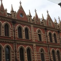 Image: Ornate facade of a Gothic Revival-style building