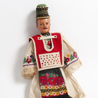 Image: male doll in colourful costume
