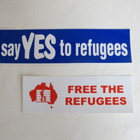 Image: two bumper stickers