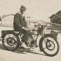 Image: Man on motorcycle