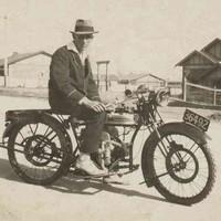 Image: Man on motorcycle