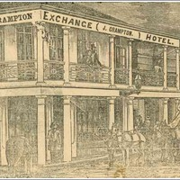 Image: drawing of the Exchange Hotel