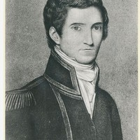 Image: Black and white portrait of Captain Matthew Flinders, 1808