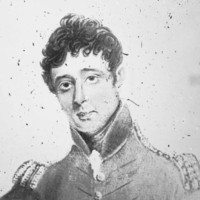 Image: Painted self-portrait of a man in military uniform