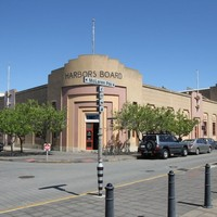 Image: Large single storey curved fronted building