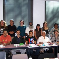 Kaurna students and teachers, TAFE Certificate III course, 2012
