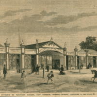 Image: engraving of a market entrance