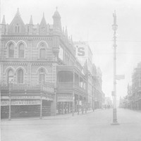 Image: Empty street and ornate building