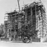 Image: Cathedral facade under significant renovation