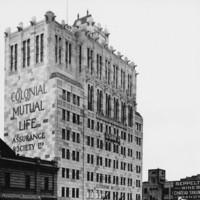 Image: High-rise building with prominent lettering
