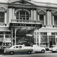 Image: Run-down shopping arcade street scene